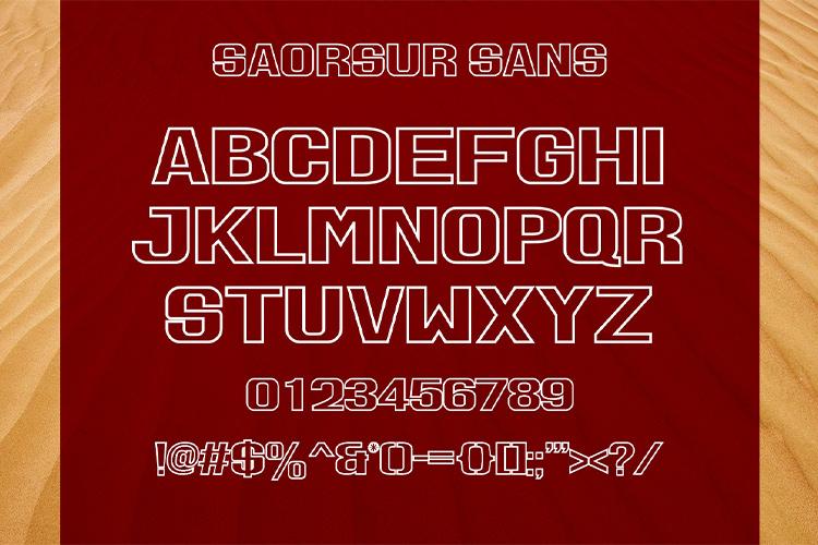 SAORSUR || BRUTALIST FONT example image 10