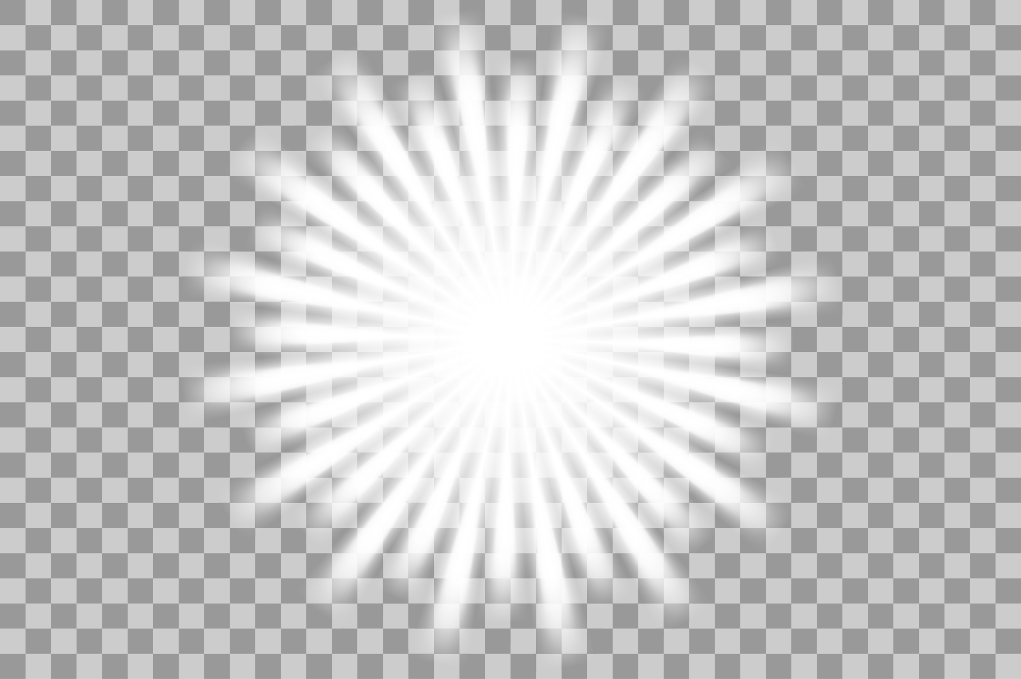 Vector white light effects. Flash. example image 6