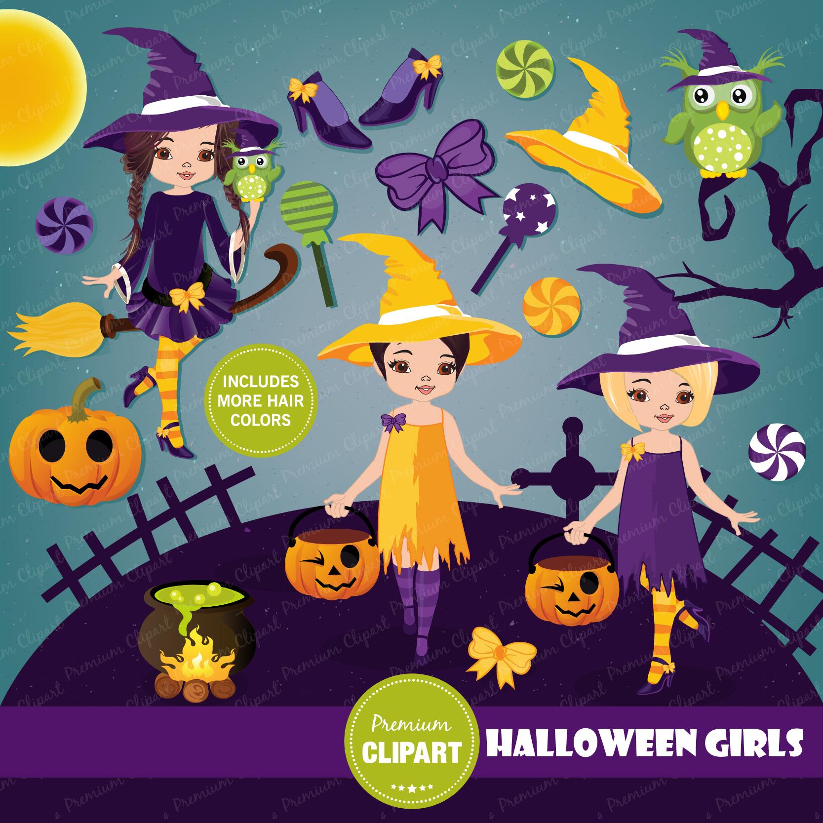 Halloween bundle, Halloween illustrations example image 3