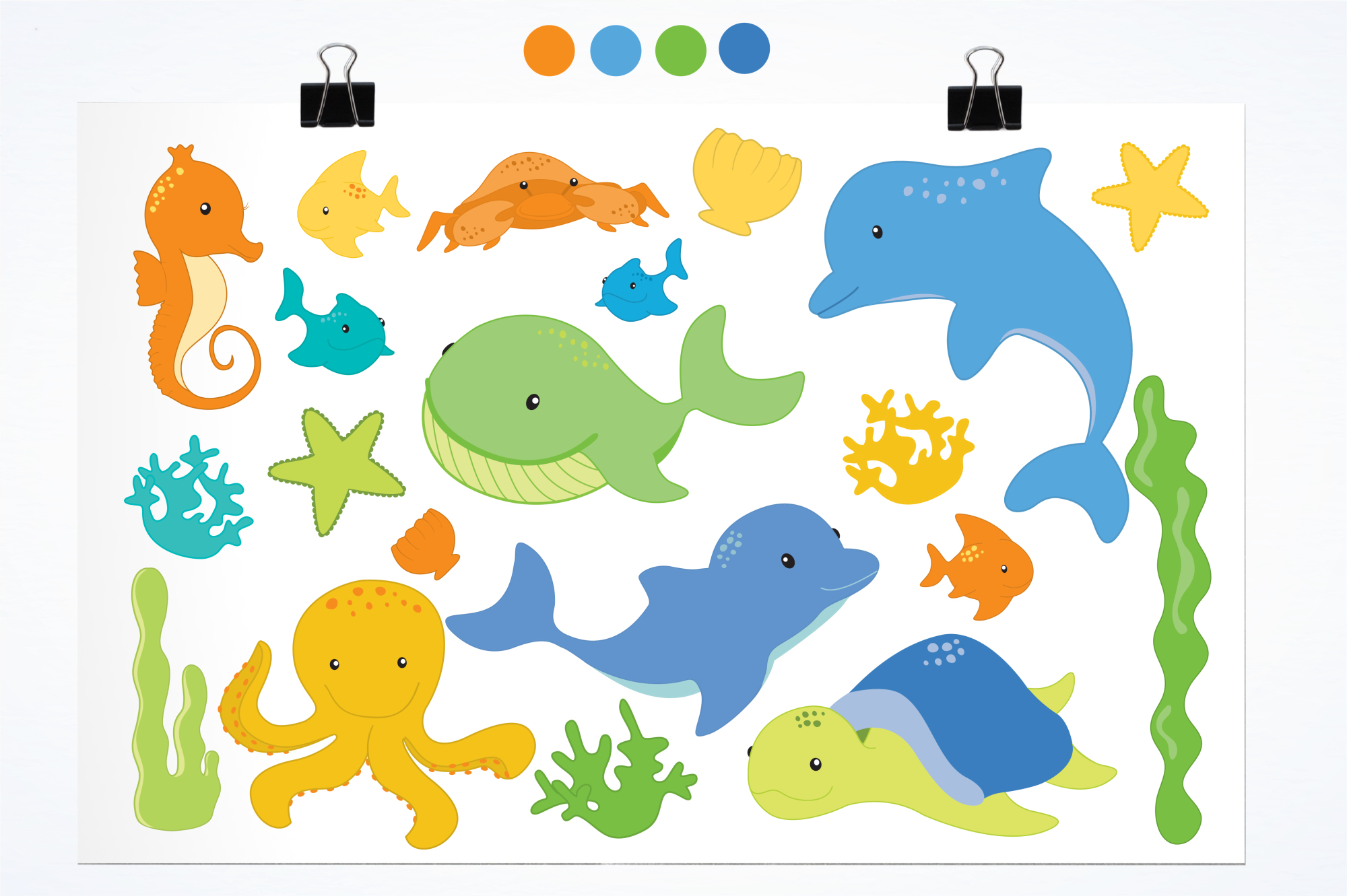 Sea Creatures Boys graphics and illustrations example image 2
