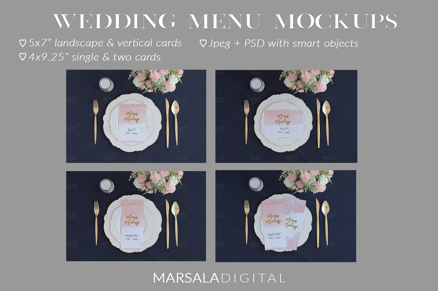 Blush and Navy Wedding Mockup Bundle example image 5