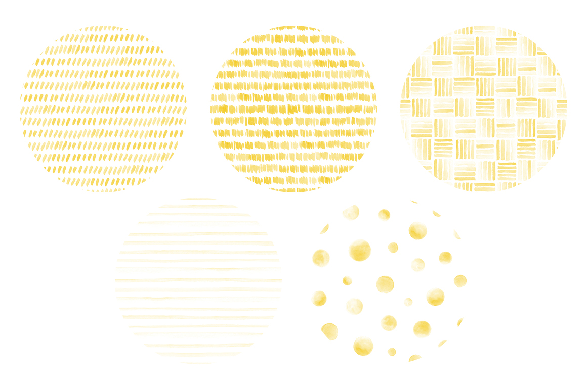 20 Seamless Watercolor Patterns Yellow example image 3