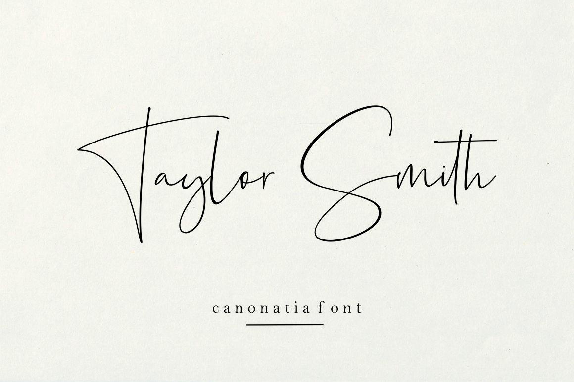 Canonatia // Handwritten Font example image 2