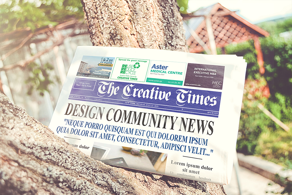 a4 Newspaper Mockups example image 8