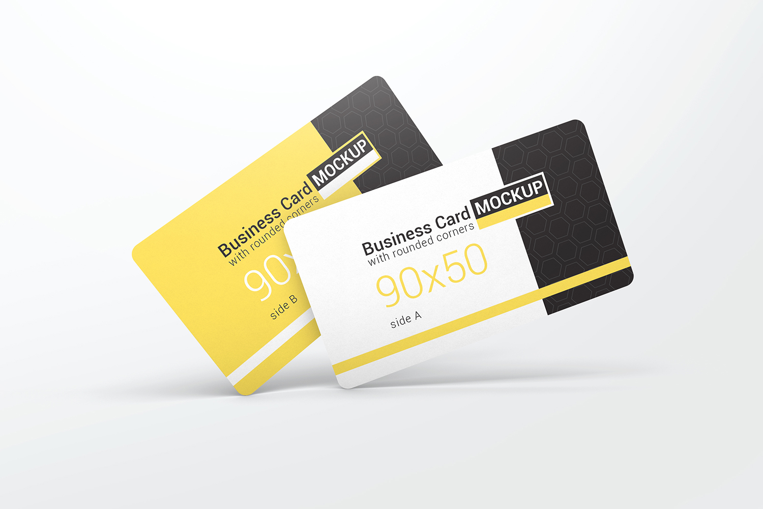 Business Card With Rounded Corners Mockups example image 6