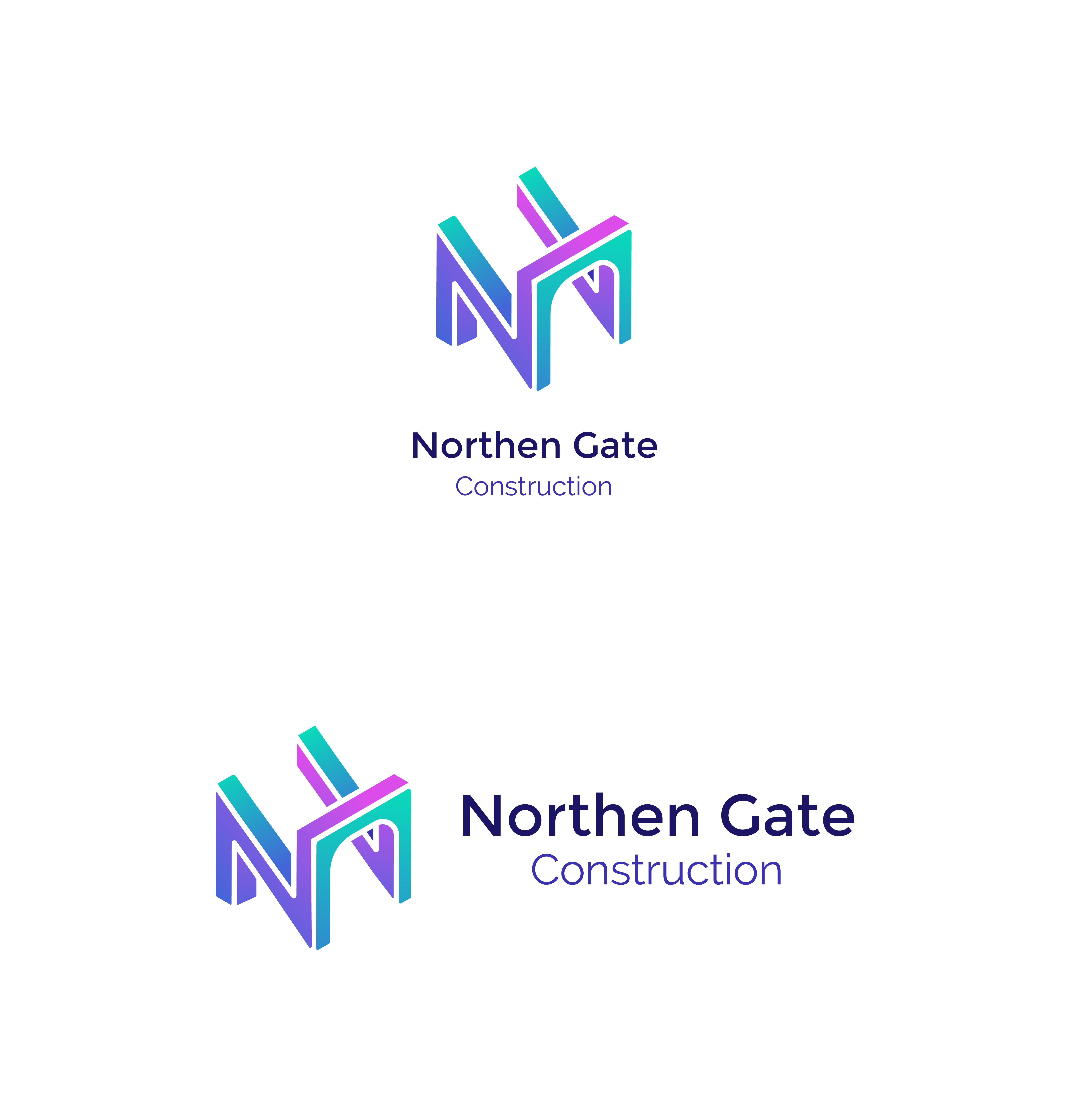 Letter N - Construction Gate Bridge Logo Logo Template example image 4