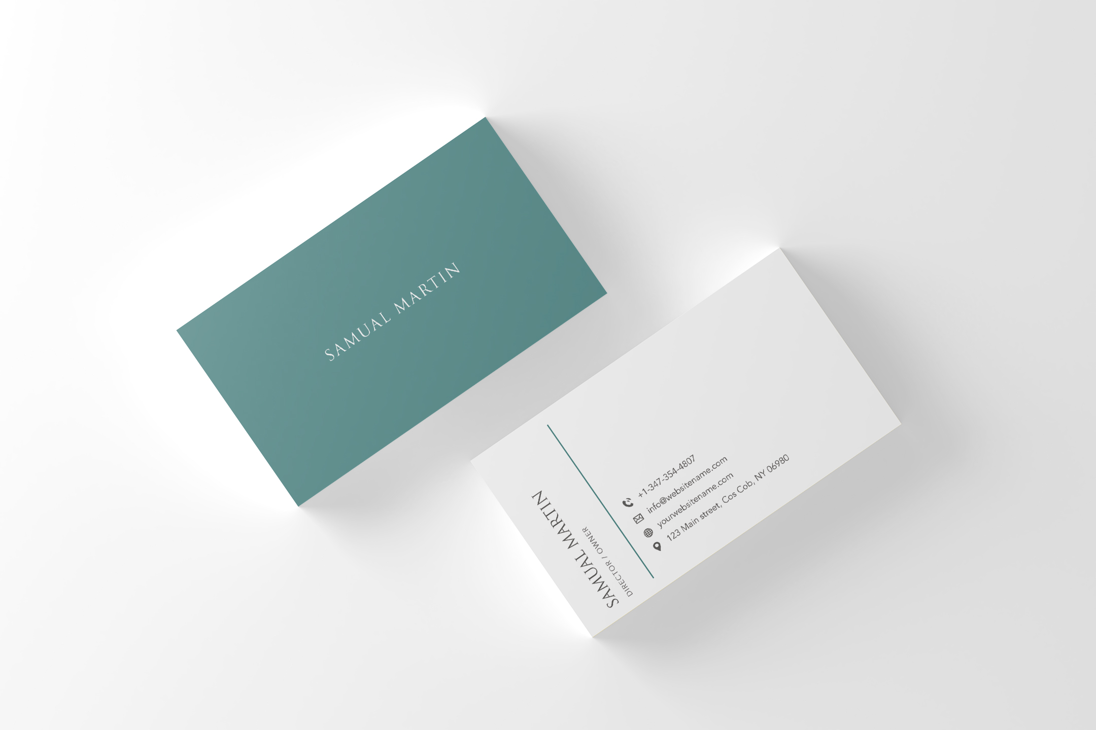 Beautiful Simple Classy Modern Business Card example image 2