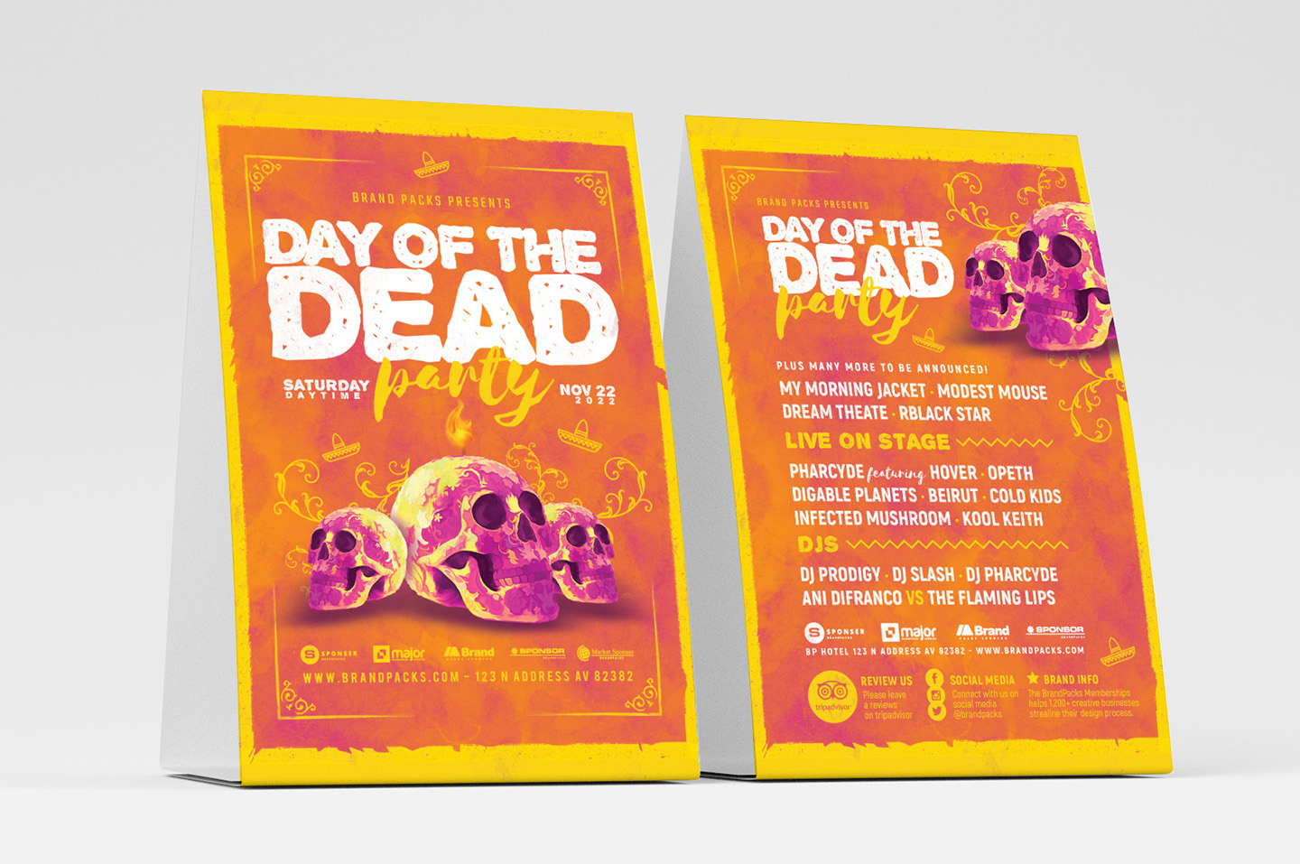 Day of The Dead Party Flyer Template example image 3