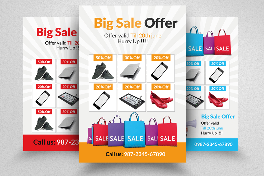 6 Big Sale Offer Flyers Bundle example image 4