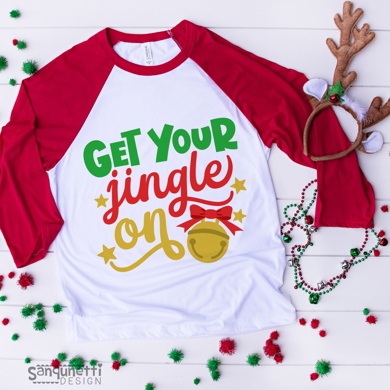Get your jingle on svg, Christmas bells cutting file example image 2