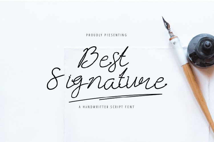 Best Signature Fonts example image 1