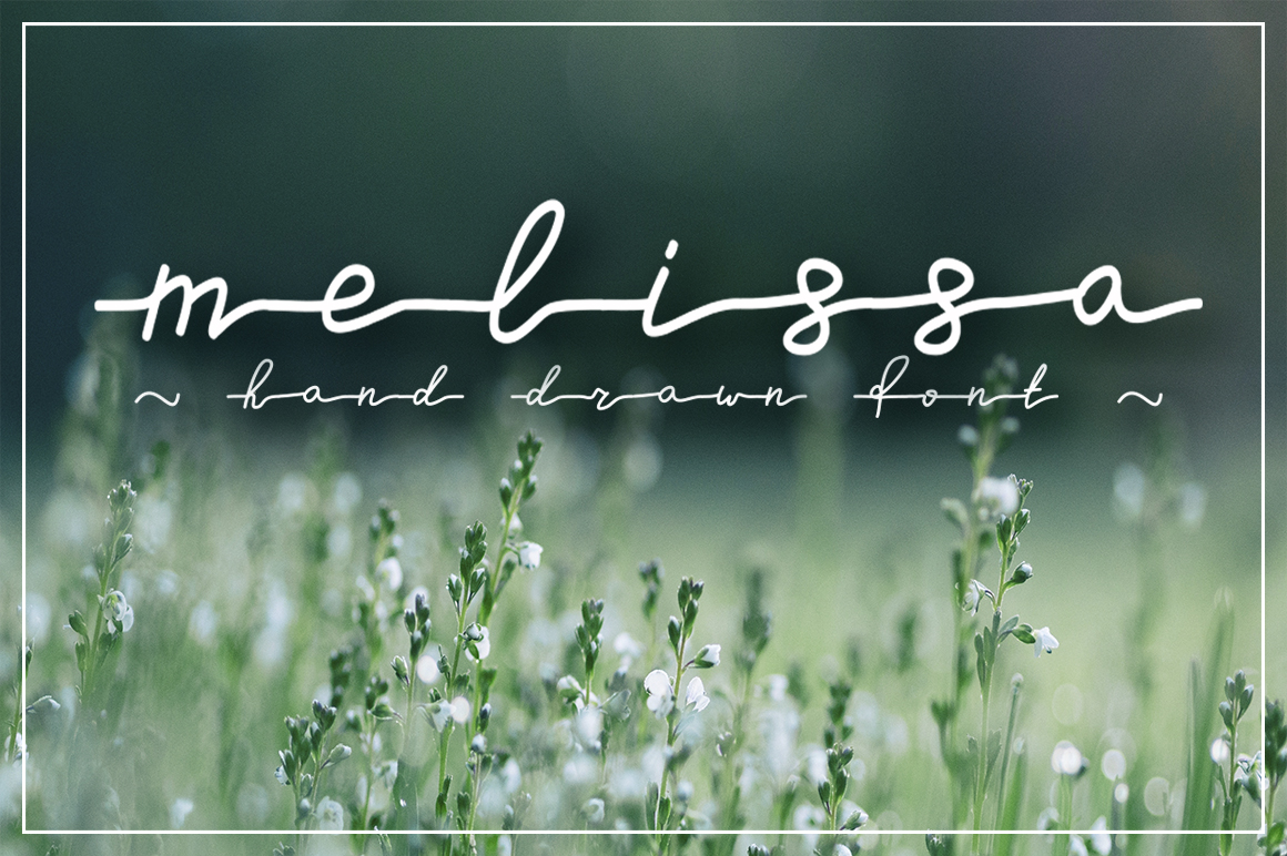 Melissa - hand drawn script font example image 1