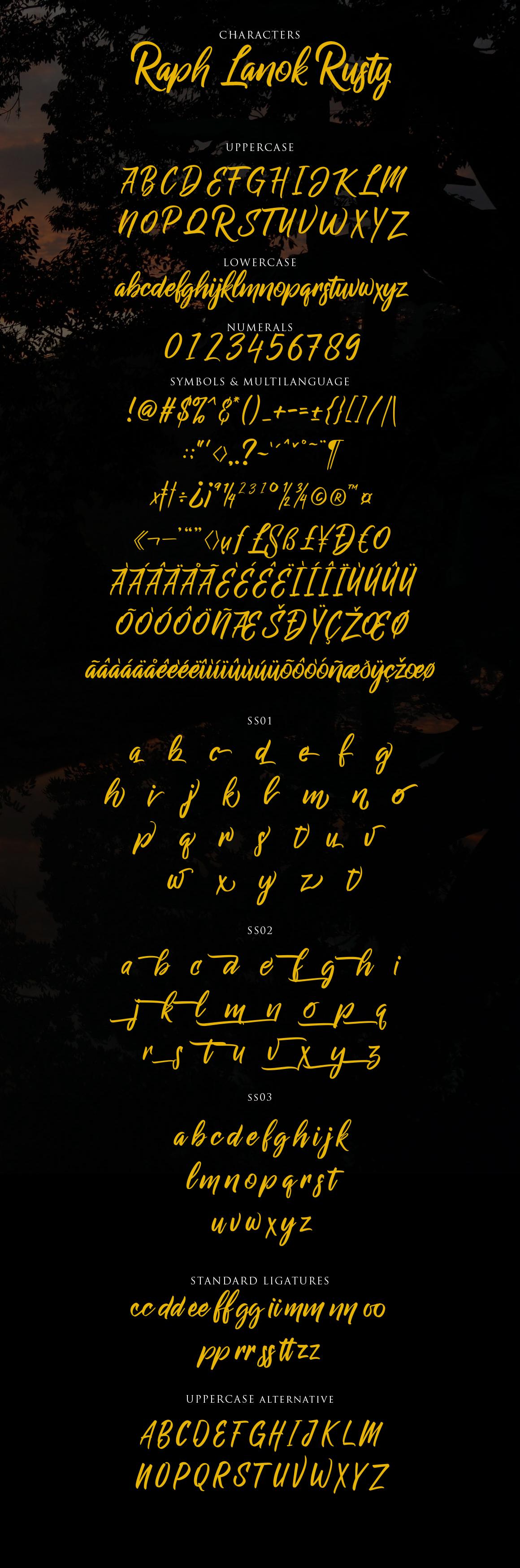 Raph Lanok Typeface example image 11