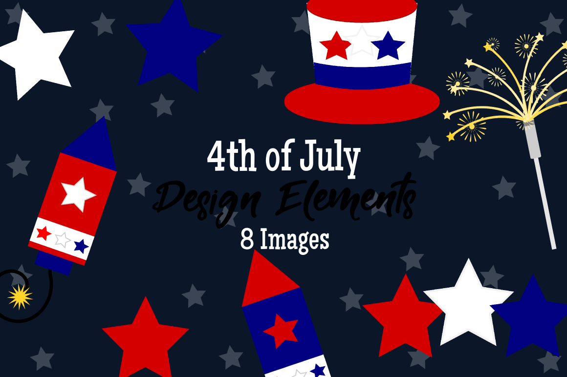 4th of July Graphics, Illustrations, Clipart example image 1
