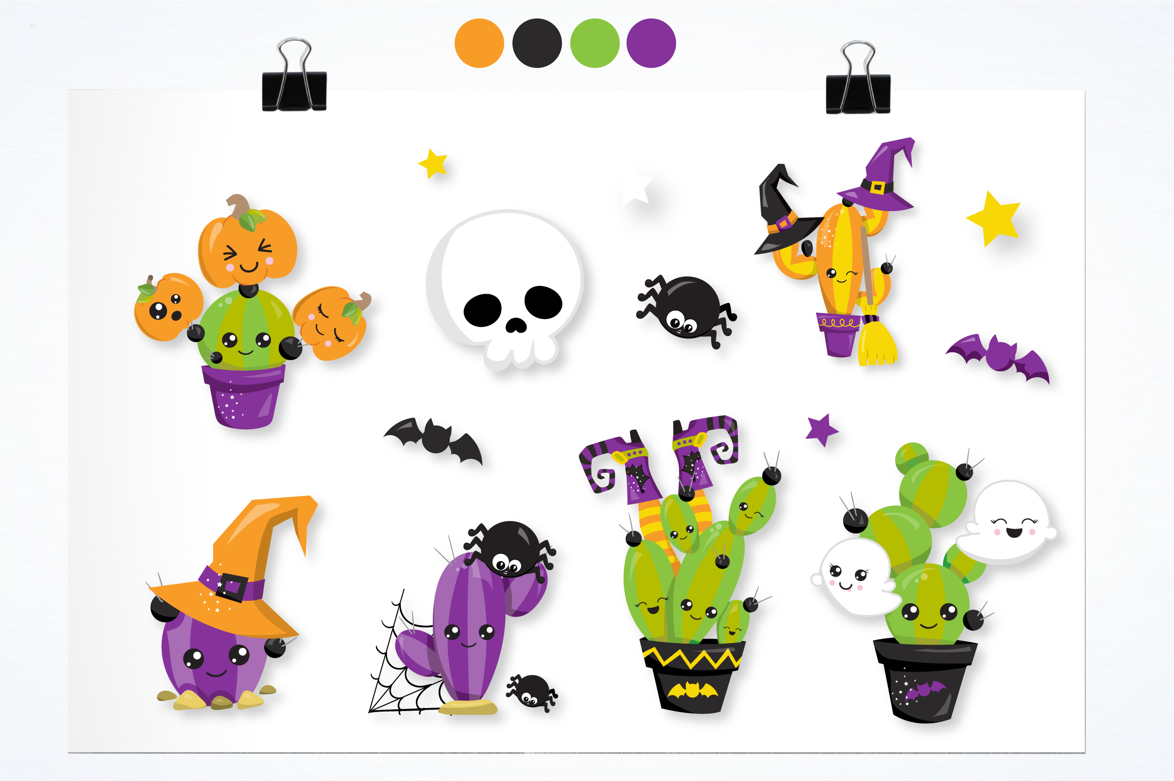 Halloween cactus graphics and illustrations example image 2