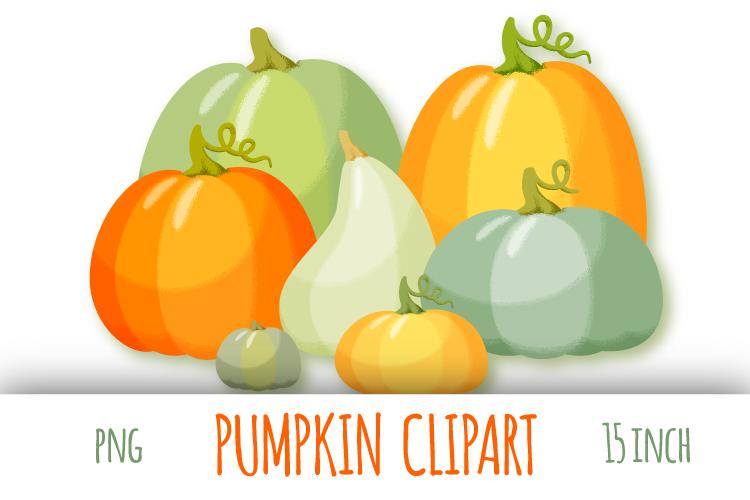 Pumpkin clipart. Autumn digital stickers example image 1