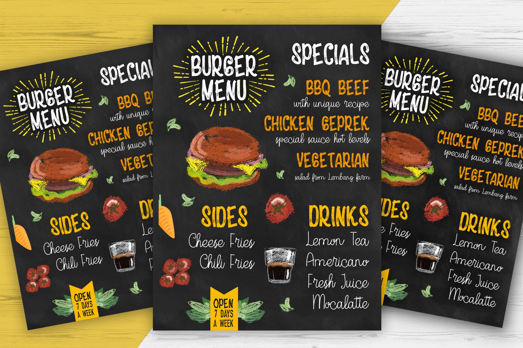 HungryChalk Typeface example image 2