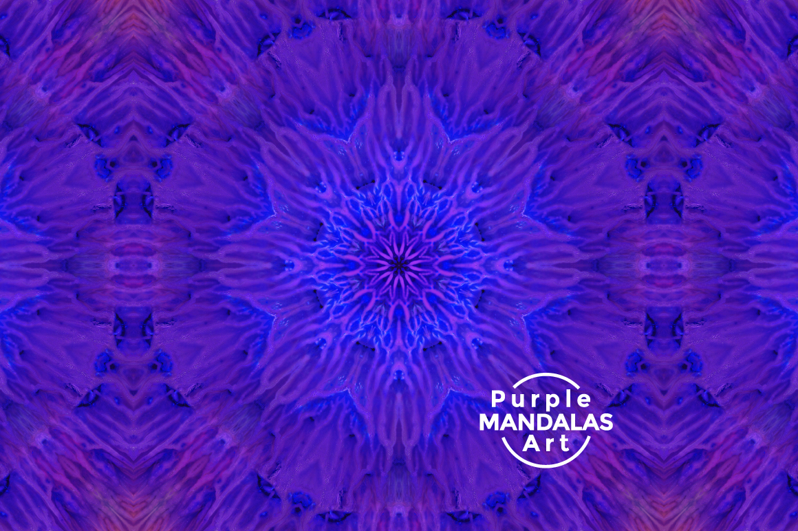 Purple MANDALAS Art example image 3