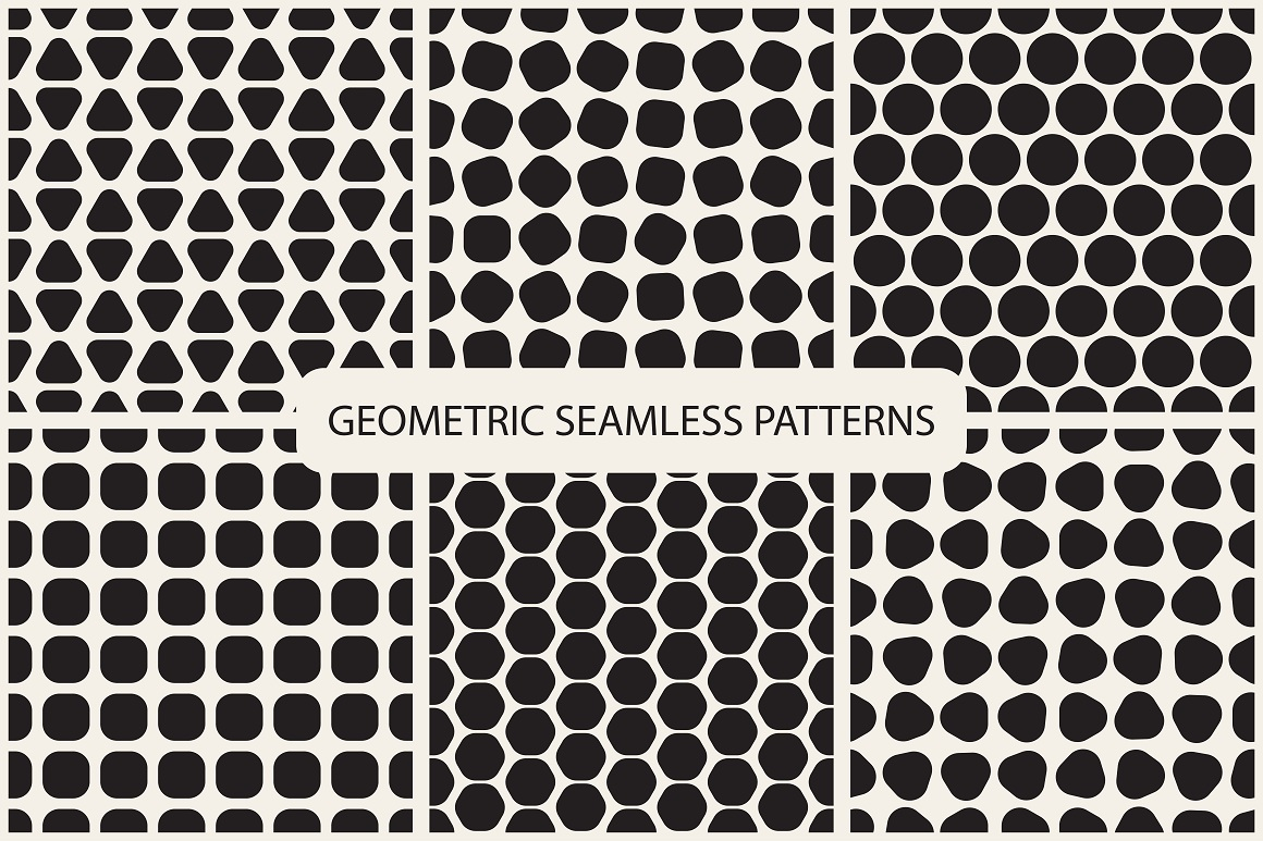 Seamless geometric patterns. 3 colors example image 13