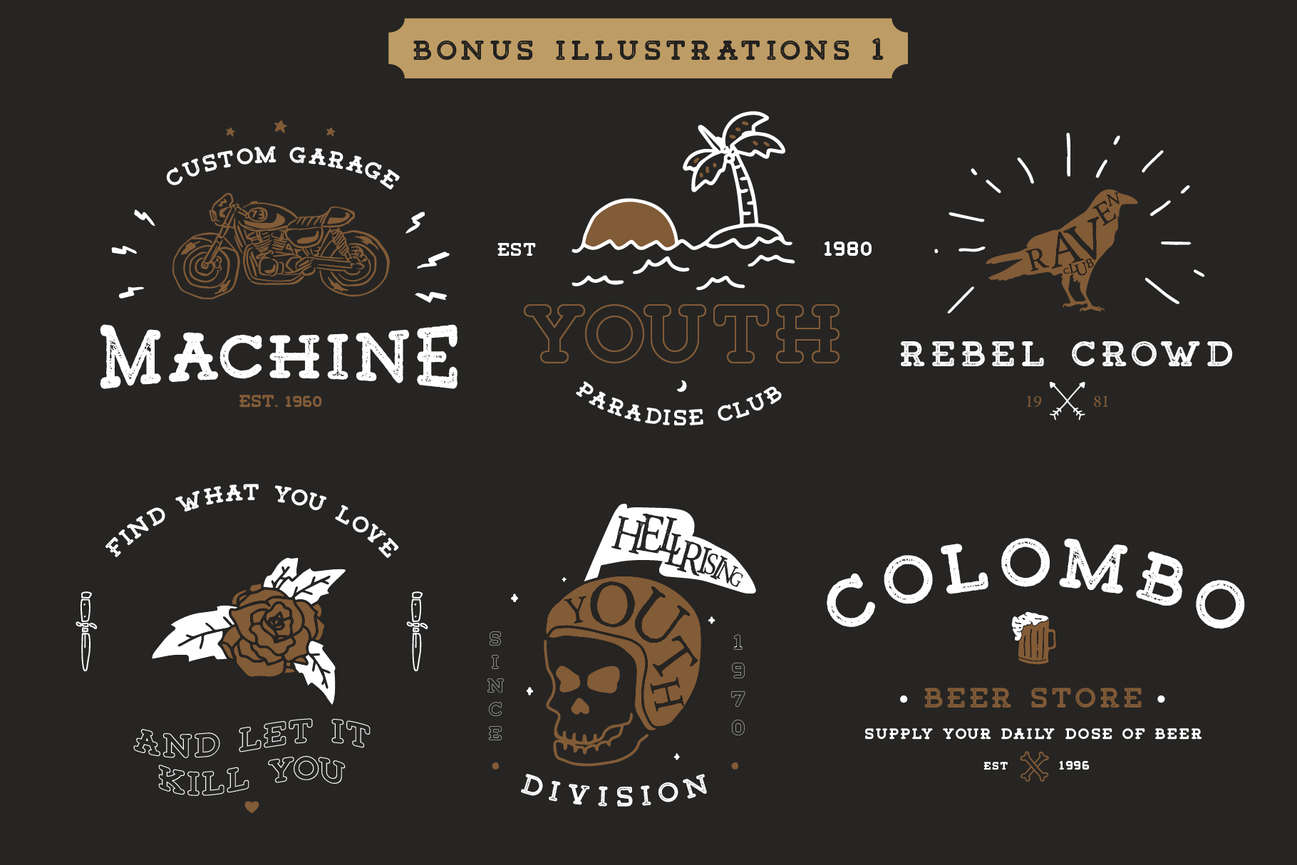 Tigreal Font Family BONUS Illustrations example image 3