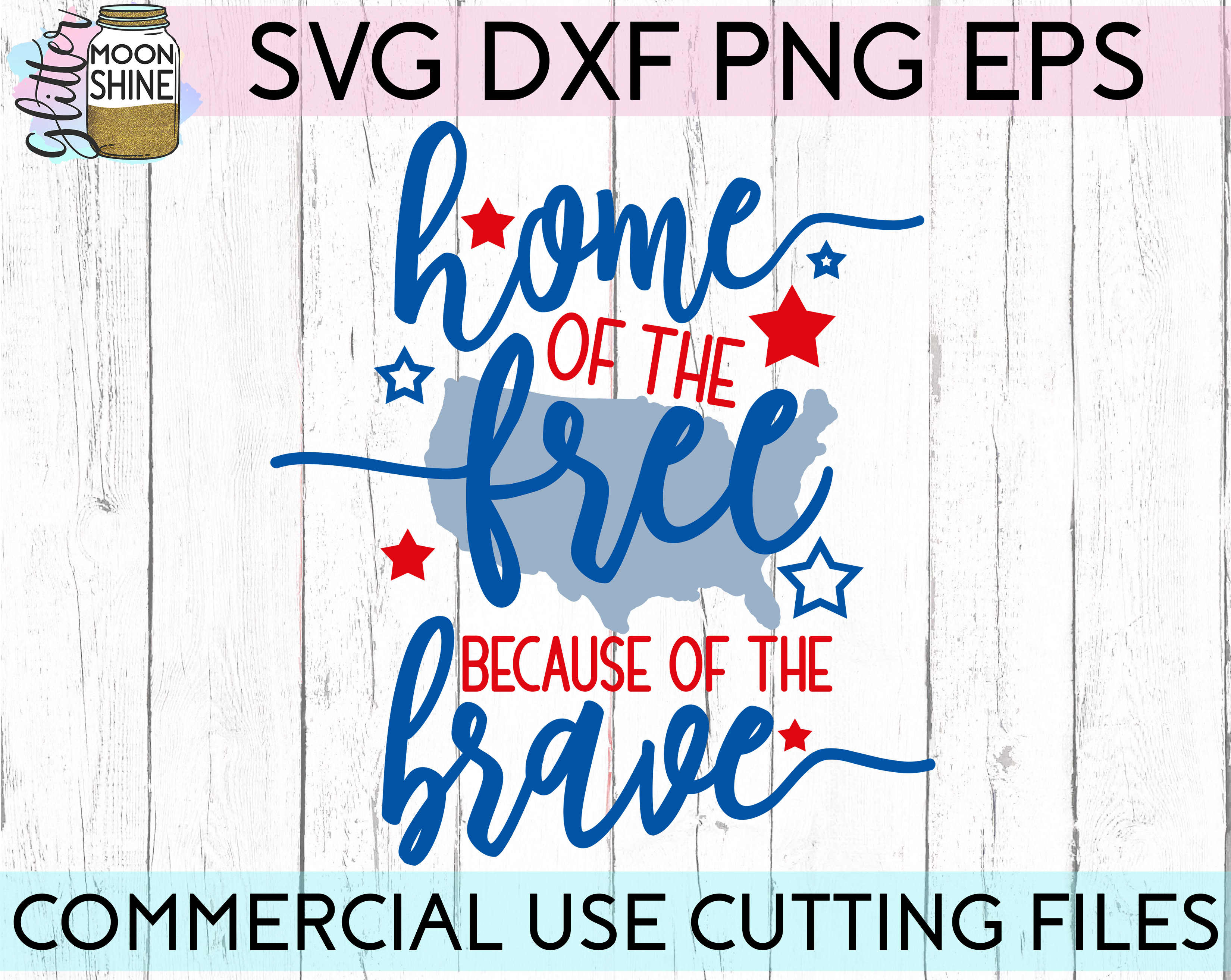 Huge 4th Of July Design Bundle of 23 SVG DXF PNG EPS Cutting Files example image 5