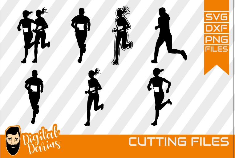 7x Runner Bundle svg, Jogging svg, Fitness svg, Workout example image 1