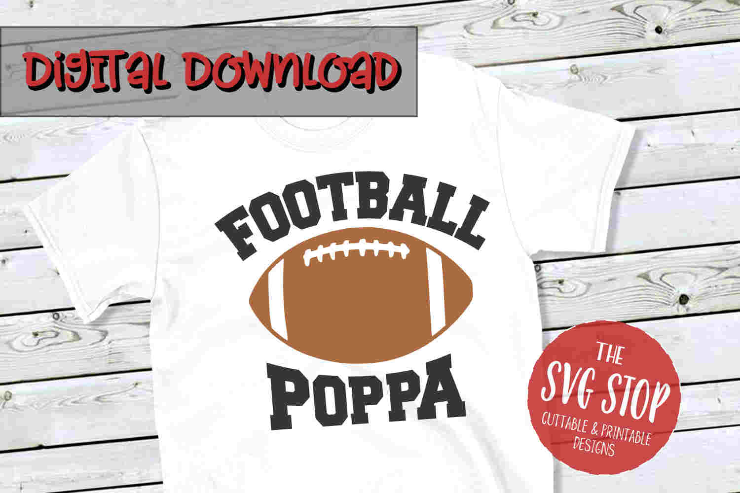 Football Poppa -SVG, PNG, DXF example image 1