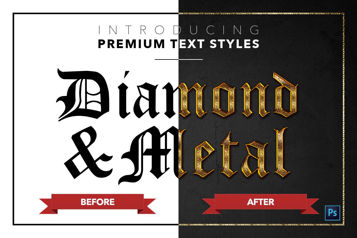 Diamond & Metal #1 - 15 Text Styles example image 17