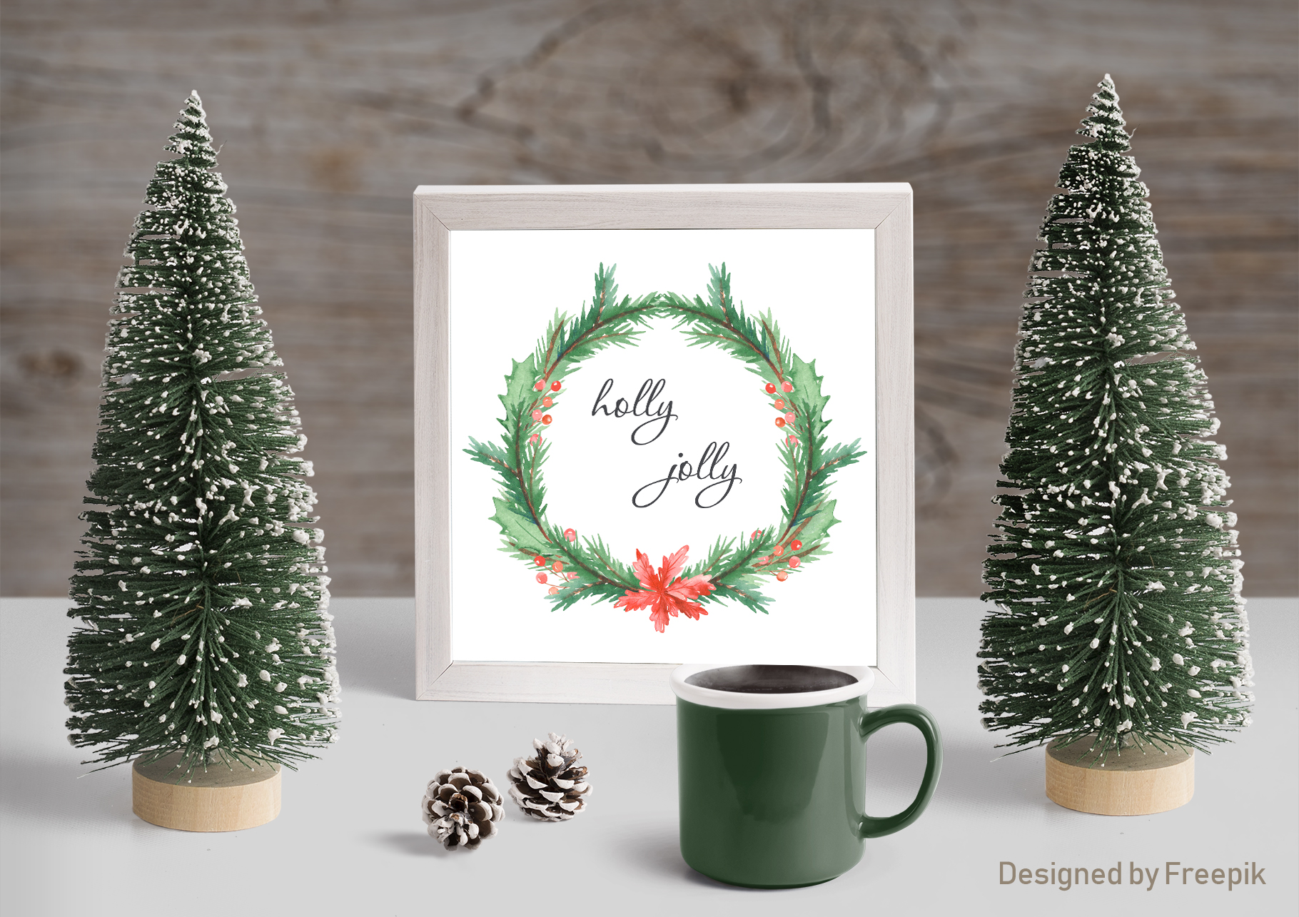 Christmas pickup Watercolor clipart and Christmas elements example image 10