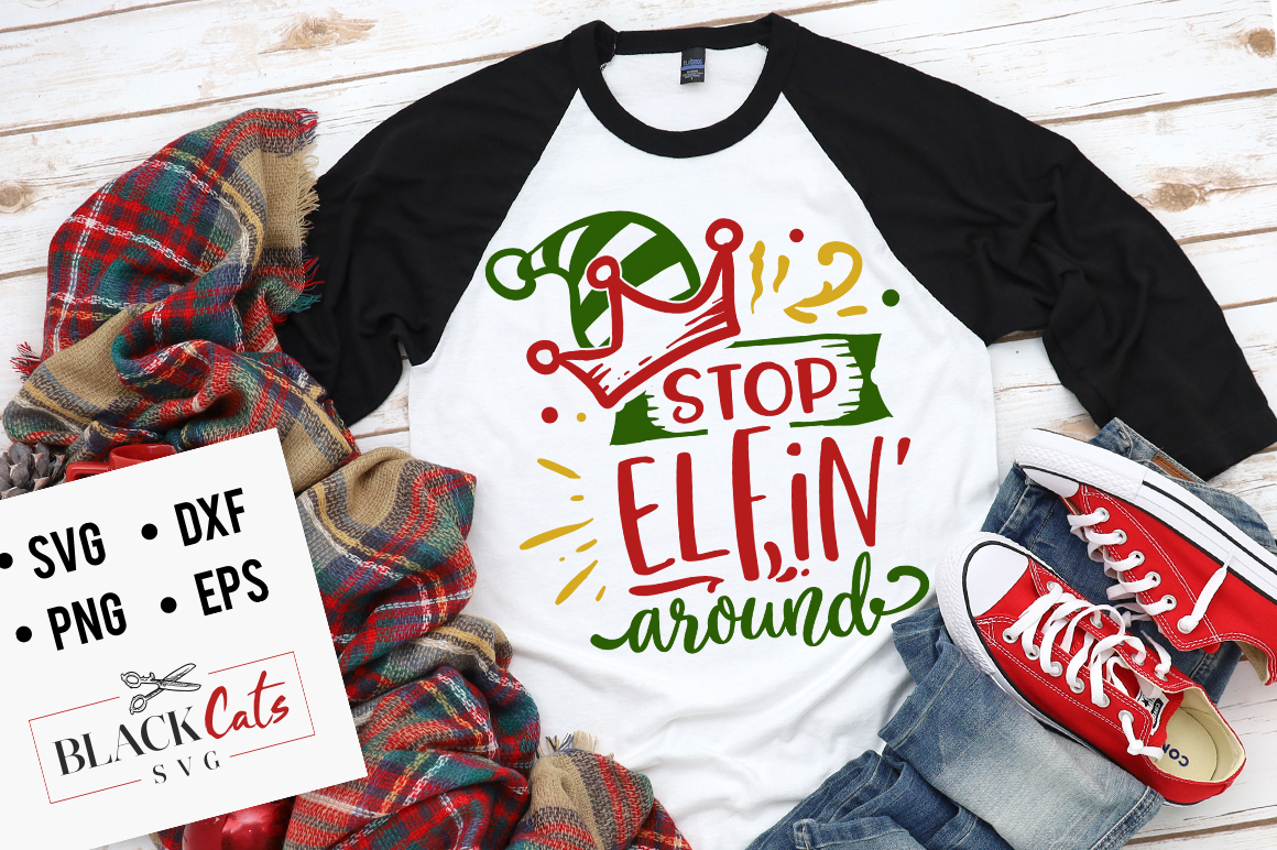 Stop elfin around svg example image 1