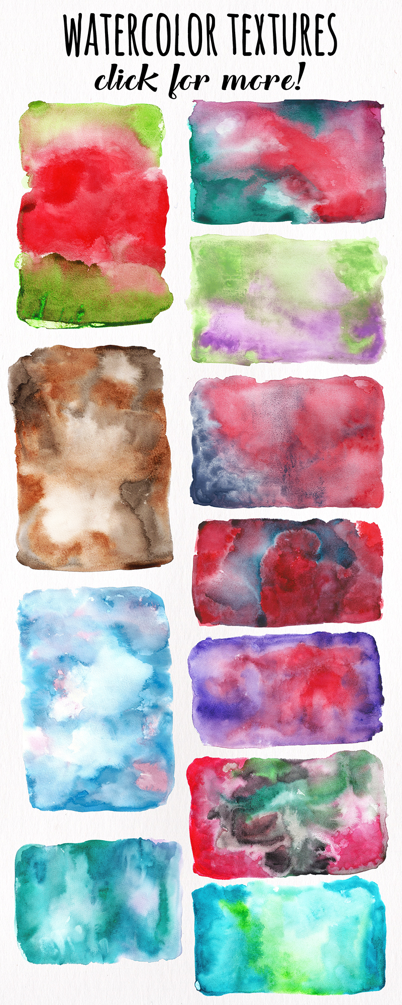 Watercolor Textures - card edition example image 18
