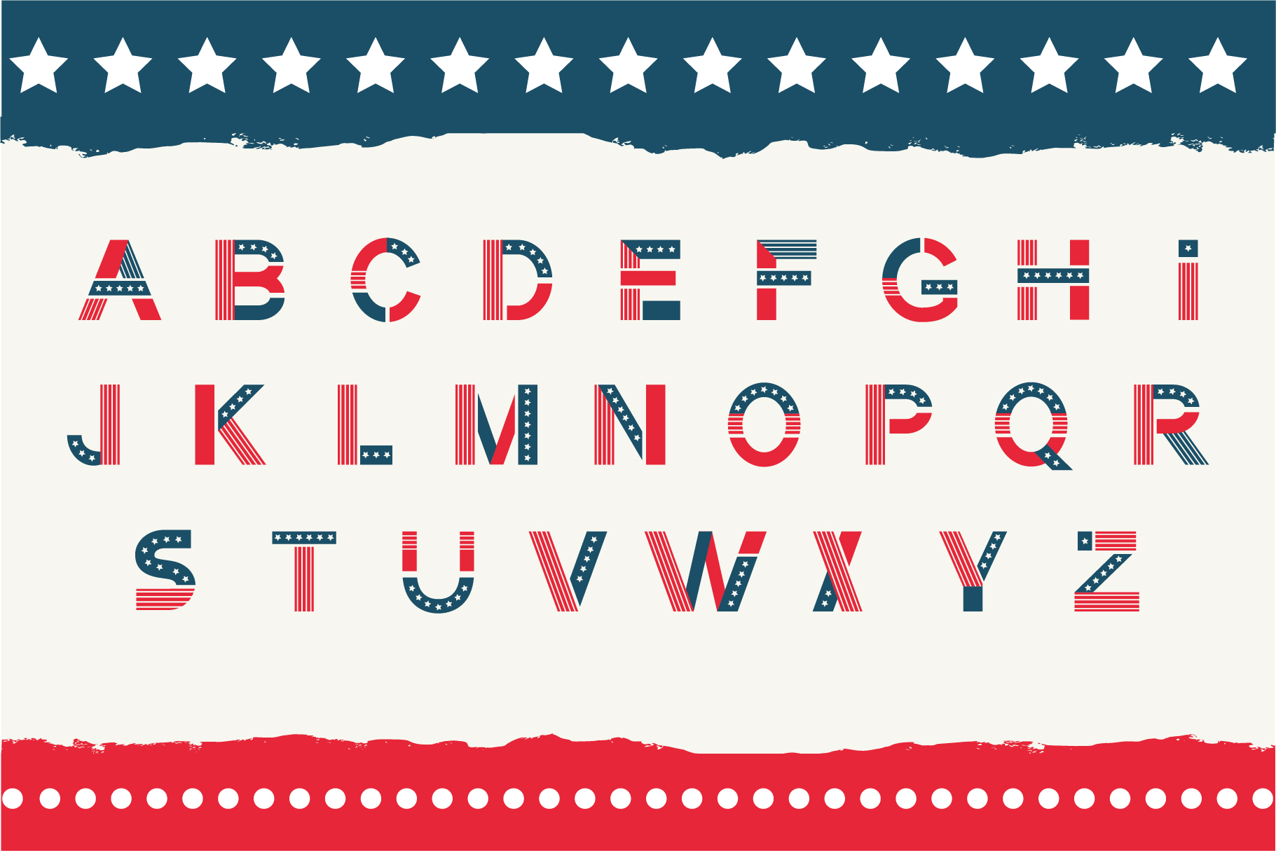America otf color font example image 3