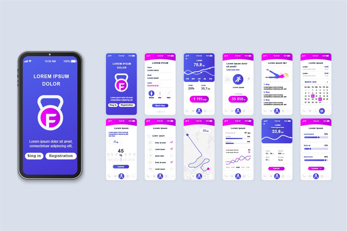 Bundle Mobile App UI Kit Screens example image 2