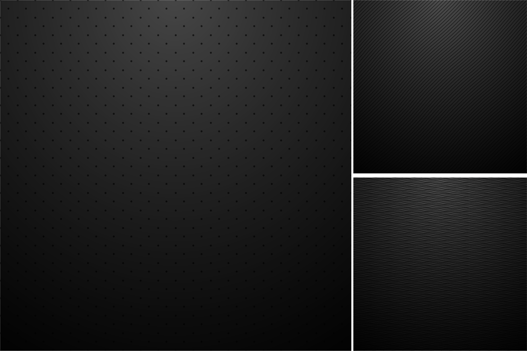 Black backgrounds. Striped textures. example image 3