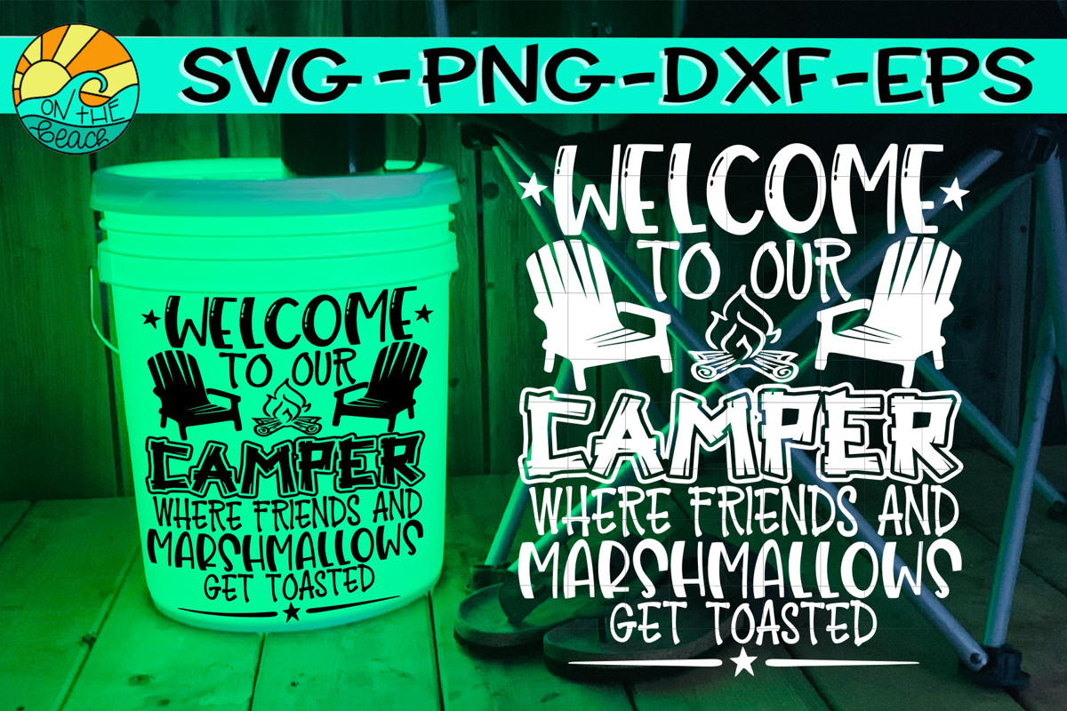 Welcome To Our Camper - Camping LED Bucket - Welcome Mat example image 1