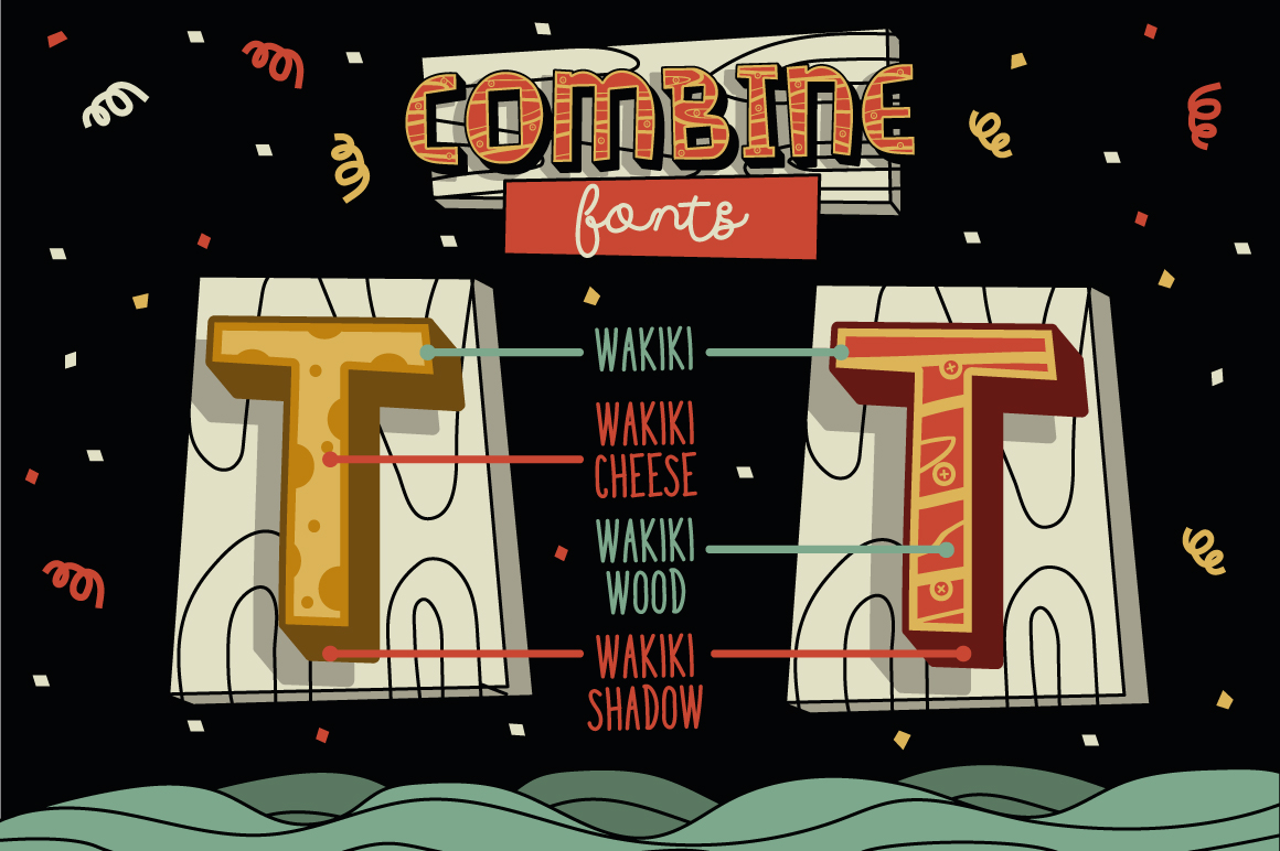 Wakiki Layered Typeface + Bonus example image 4