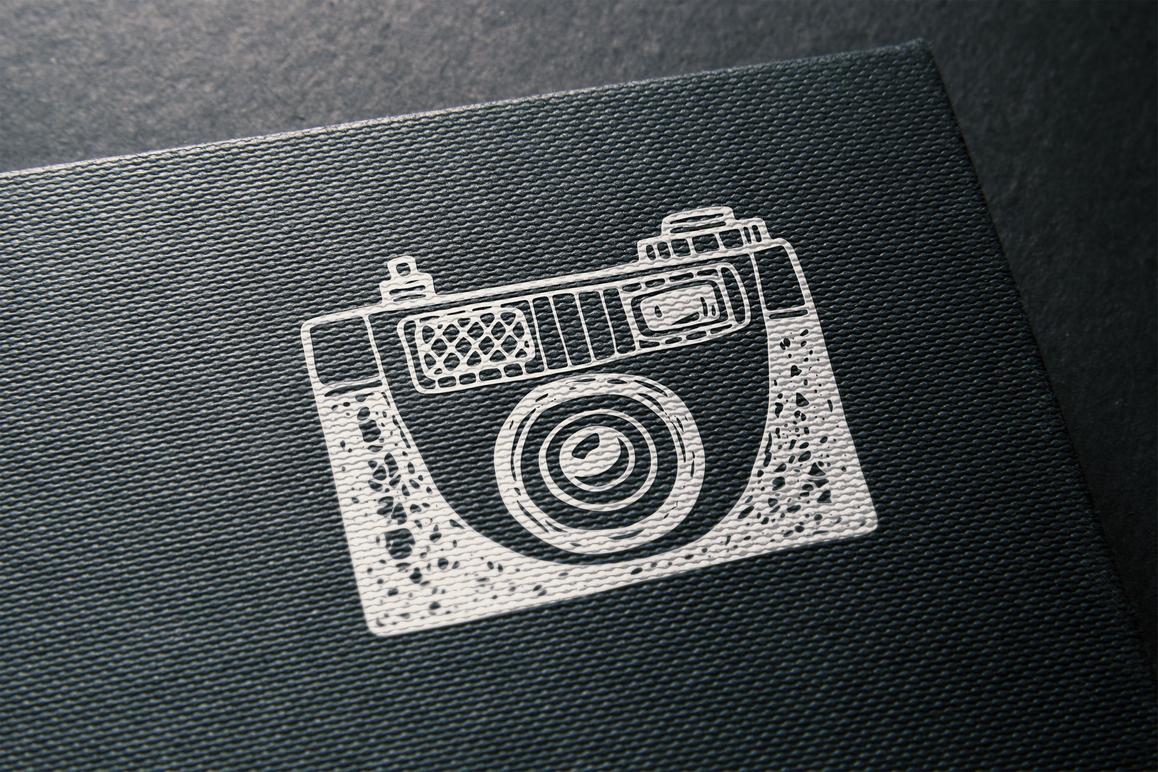 Hand drawn camera set +patterns example image 7