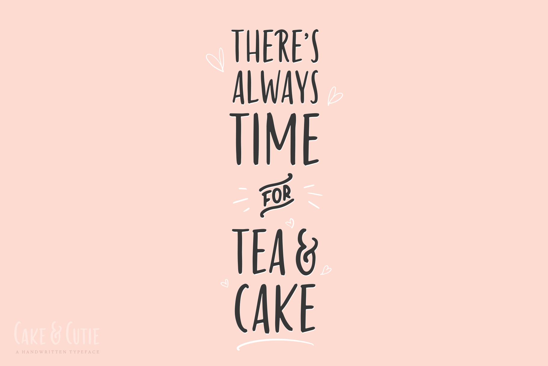 Cake & Cutie   A Handwritten Typeface example image 3