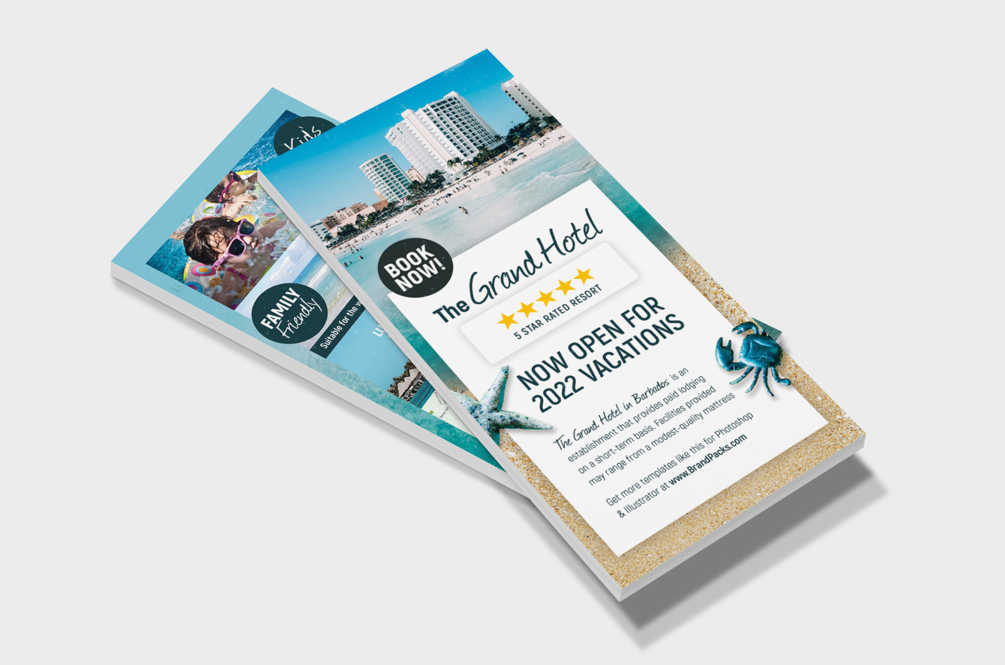Travel Hotel Rack Card Template example image 3