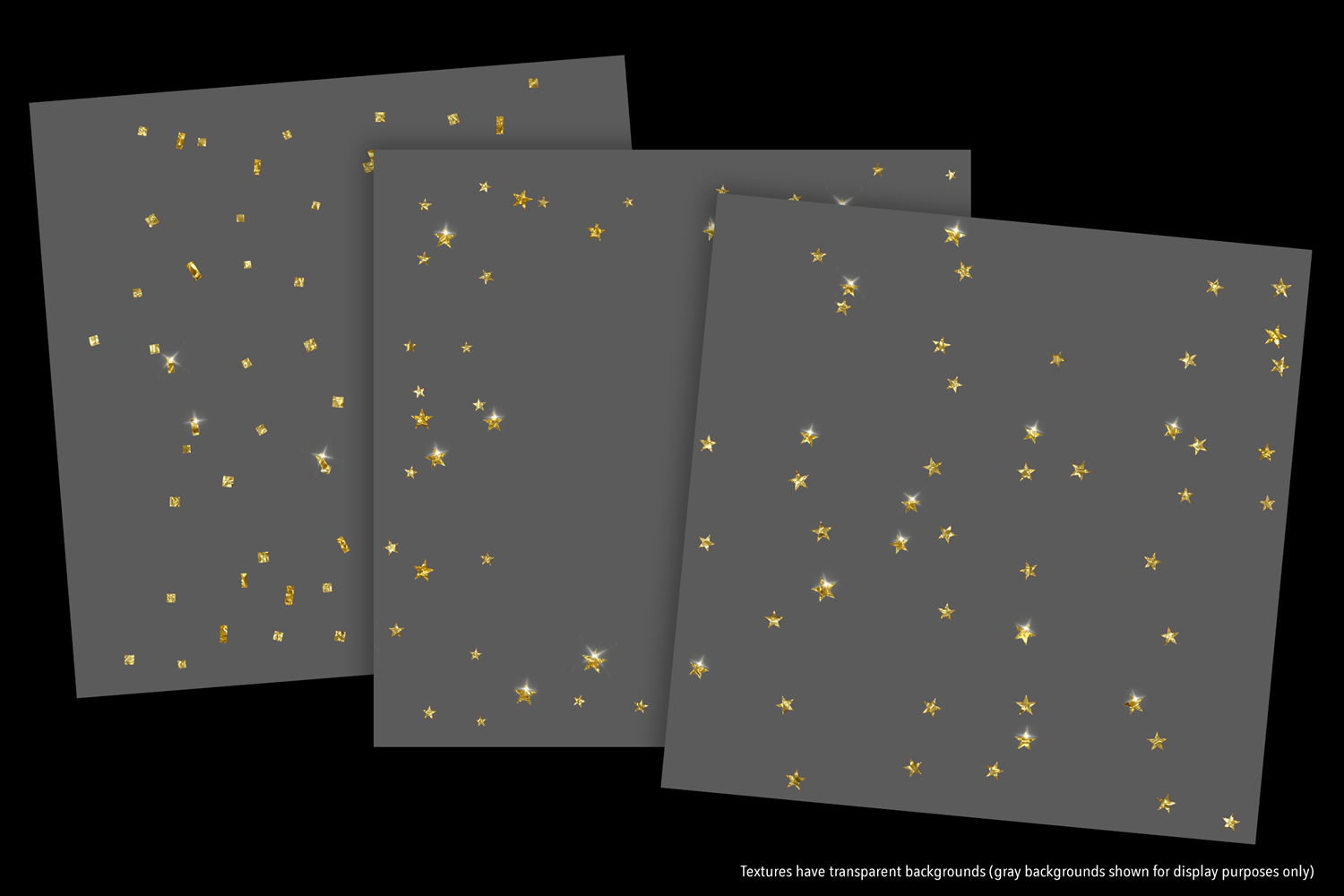 Sparkly Gold Confetti (Sparse) - transparent backgrounds example image 9