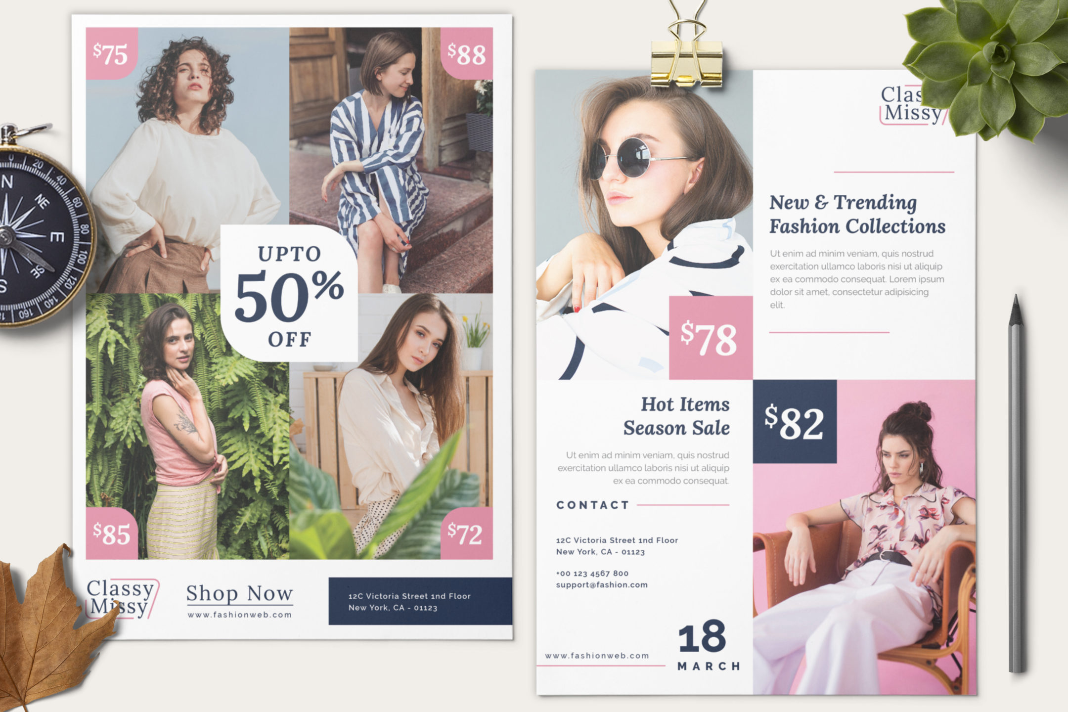 Fashion sale flyer example image 10