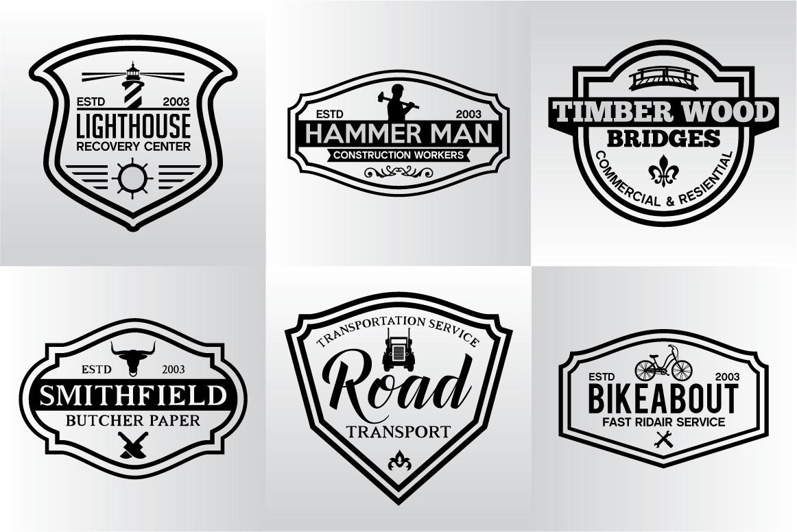 60 Vintage Bundle Logos Labels & Badges example image 14