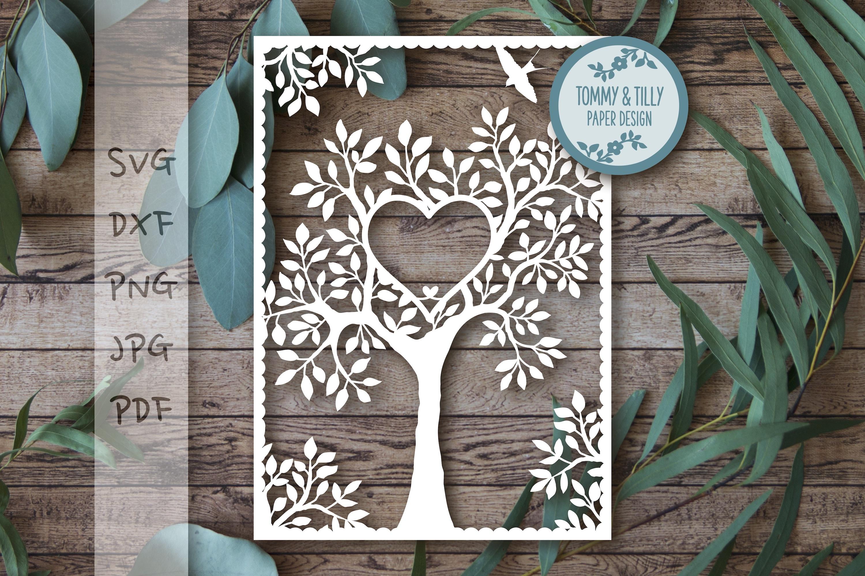 MEGA BUNDLE! Family Tree Cut Files - SVG | Papercut example image 15