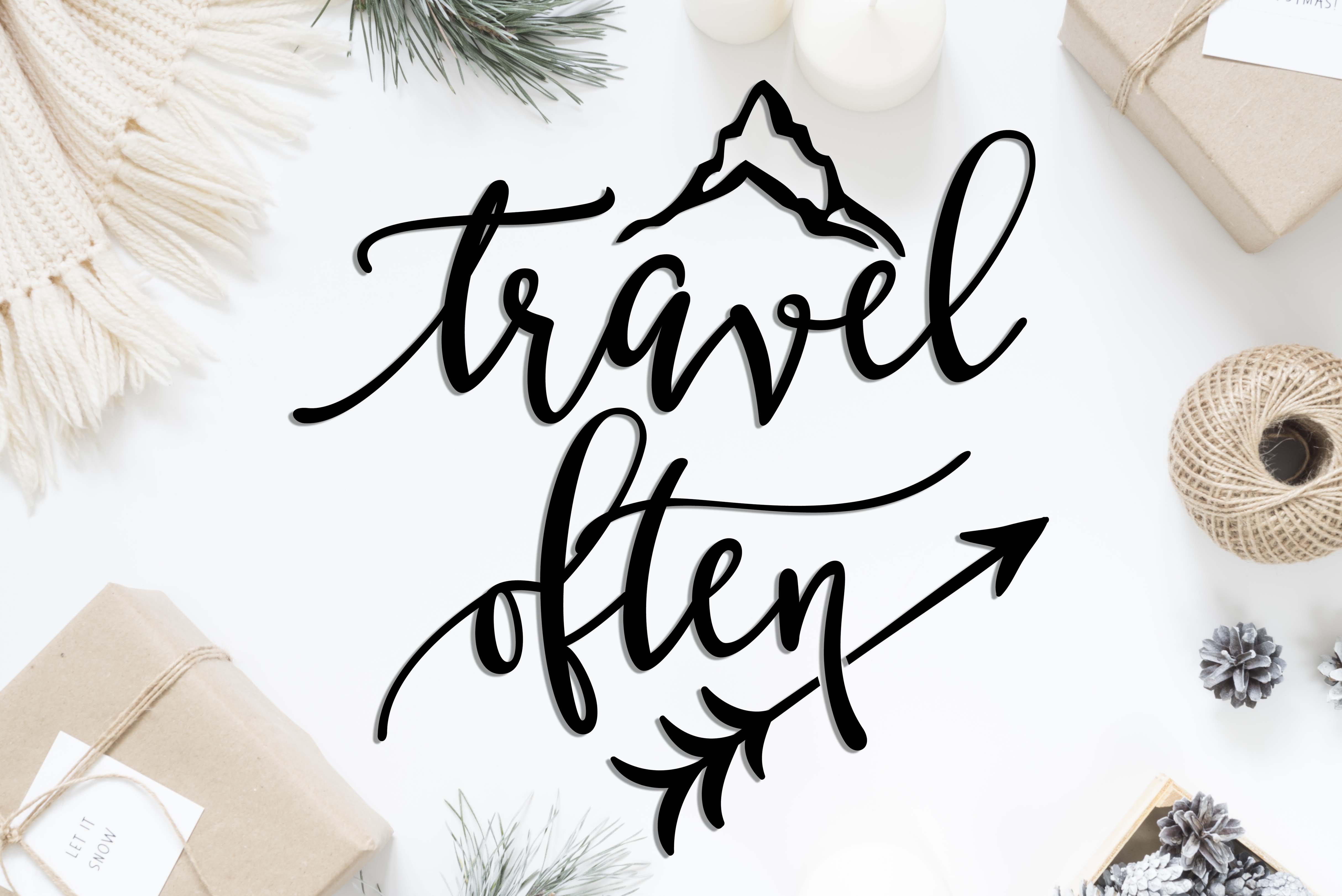 Travel often SVG DXF PNG EPS example image 2