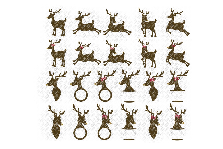Reindeer SVG Bundle Antlers in SVG, DXF, PNG, EPS, JPEG example image 3