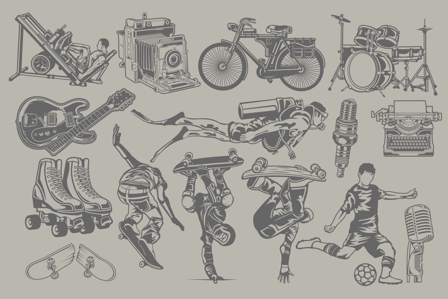 The Vector Bundle - 147 Vector Objects example image 3