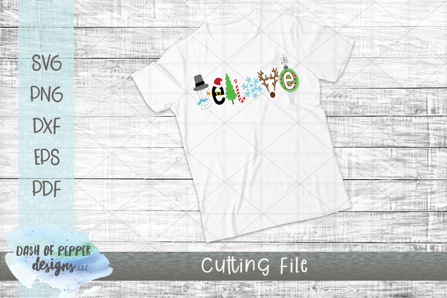 Believe SVG - A Christmas SVG example image 3