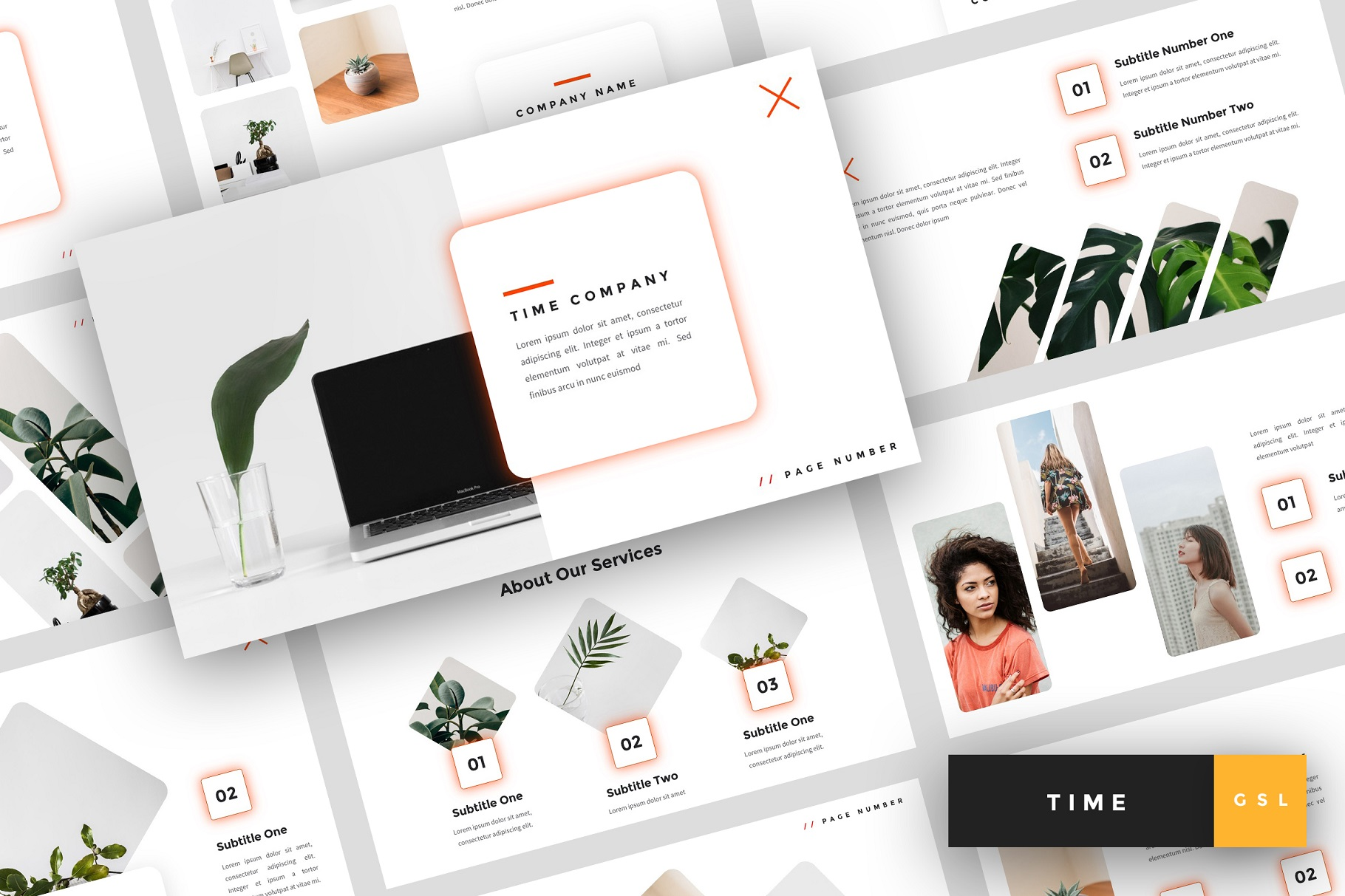 Time - Creative Google Slides Template example image 1