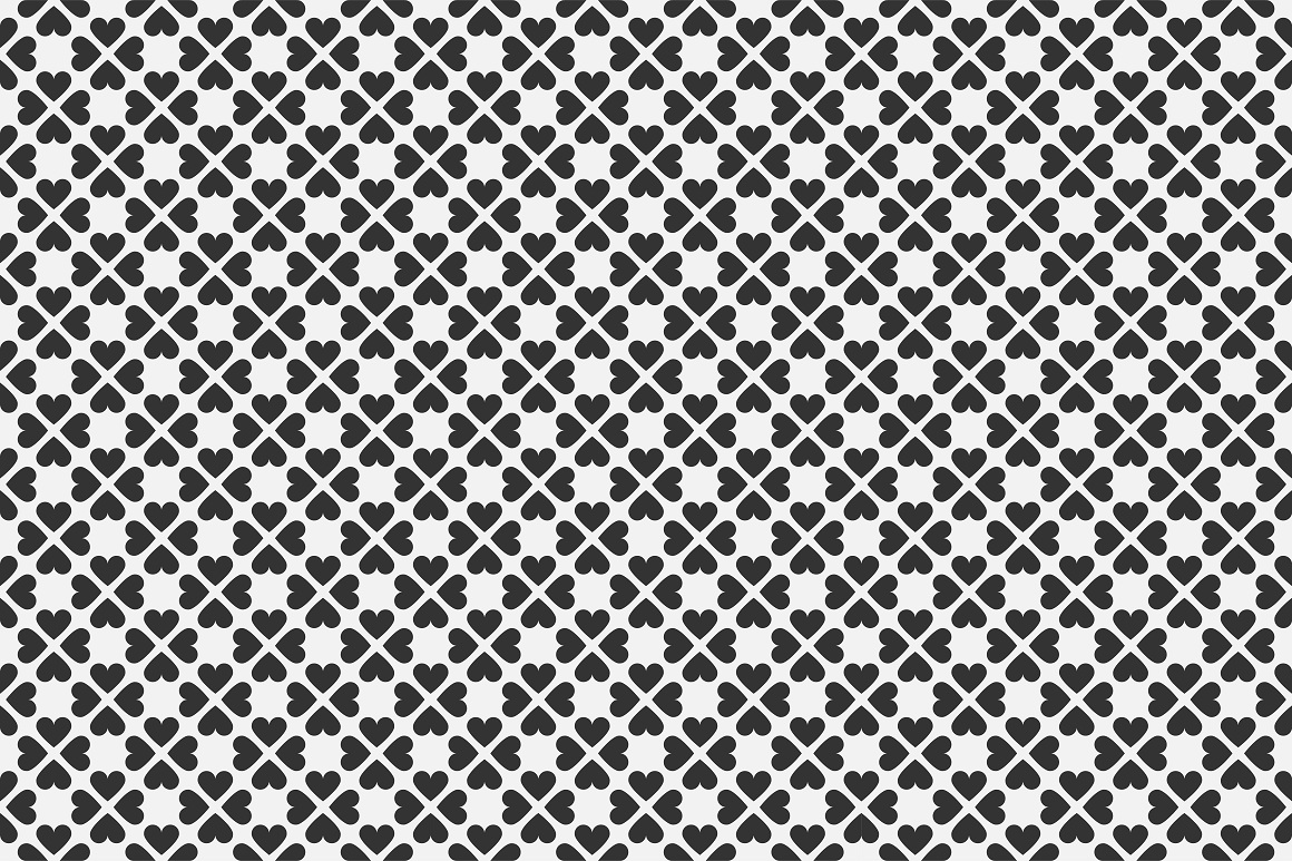 Set of seamless patterns with hearts example image 15