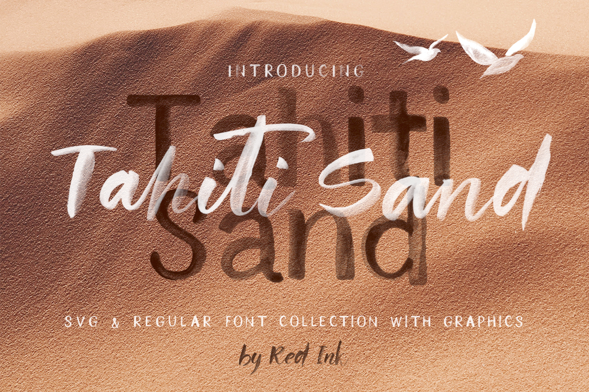 Tahiti Sand. Fonts and Graphics. example image 1